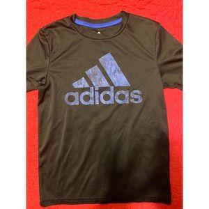 Adidas Dri Fit Logo Spell Out Graphic Tshirt Small